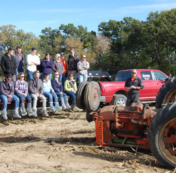 Students attend farm-accident rescue simulations