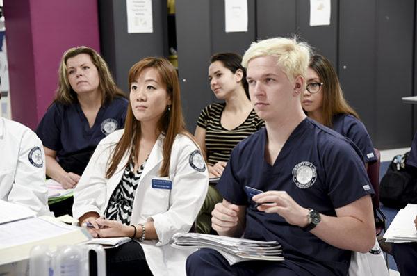 Student nurse in neonatal
