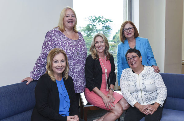 Valerie Gruss, Carrie Klima, Susan Corbridge, Mary Kapella, Judith Schlaeger