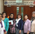Kathleen Sparbel with colleagues in Bahrain