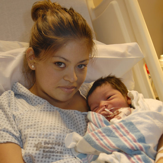 Mother and baby postpartum