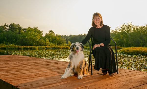 Jane Sherman and dog