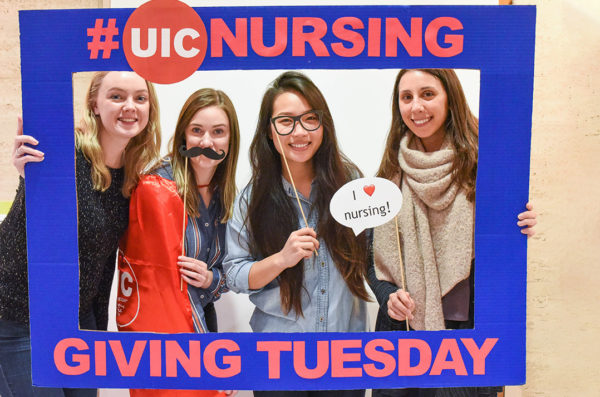 Student donors on Giving Tuesday
