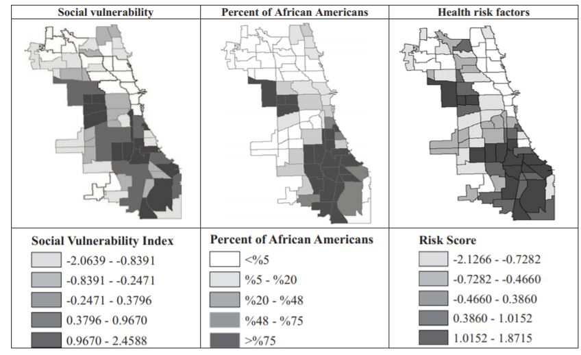 spatial distributions of social vulnerability