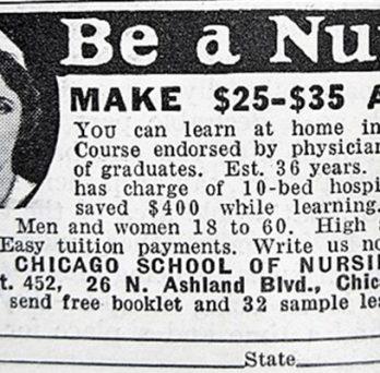 historic nursing ad