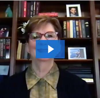 Screenshot of Terri Weaver speaking on video